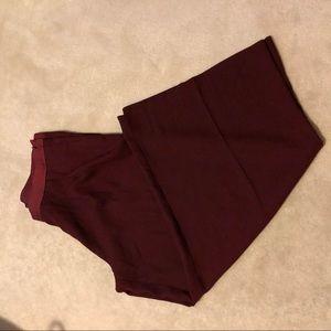 Banana Republic burgundy culotte wide legged pants